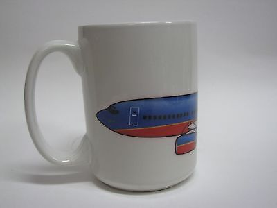 Soup Mug with Lid Vintage Southwest Airlines Coffee Base Heavy Plastic NEW !