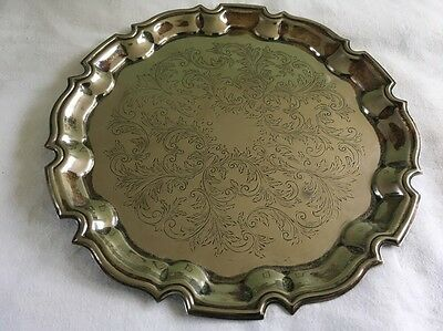 Vintage Silver Plated English Made Cavalier Decorative Tray 10' (26cm)
