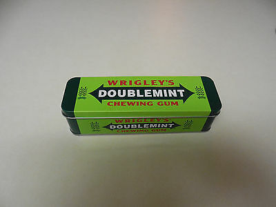 Wrigley's Doublemint Chewing Gum Collectible Hinged Tin