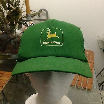 Vintage John Deere Trucker Mesh Back Hat SnapBack Adjustable 1980s 90s