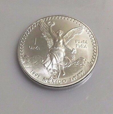 "Mexico 1995 Silver 1 Once .999 Fine Silver Libertad ""Better Date and NICE"""