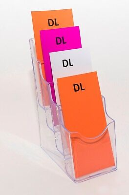 DL (1/3 A4) Brochure Holder - 4 Pocket - Pocket Depth 45mm BHDL4