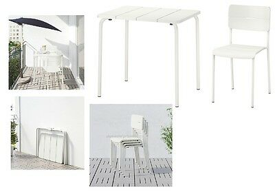 Ikea Table & chairs,outdoor VÄDDÖ White available of choice free & fast dispatch