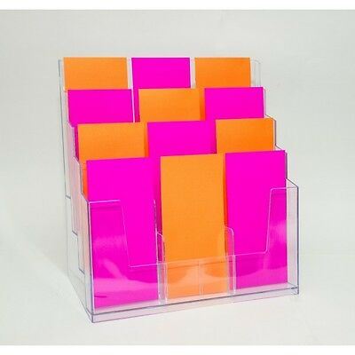 DL Brochure Holder - Large 12 Pocket - Clear Plastic BHHA44