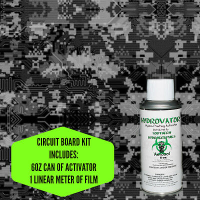 Hydrographic Film Water Transfer Hydro Dip 6Oz. Activator Circuit Board  Kit