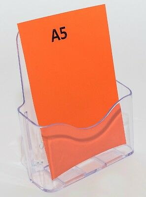A5 Brochure Holder Display Stand - 1 Pocket - Clear Plastic Acrylic BHA51