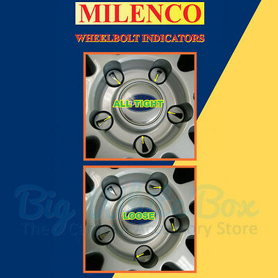 Milenco Caravan Wheel Stud / Nut Indicators - Shows Loose Wheel bolts
