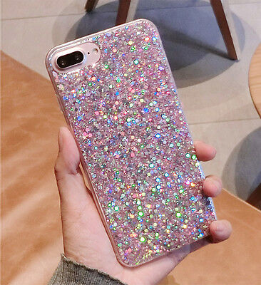 Glitter Bling Soft TPU Silicone Slim Shockproof Case Cover For iPhone 7 6s Plus