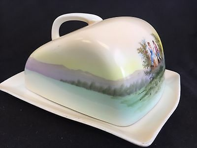 Vintage Rectangular Covered Butter Cheese Dish German? Italian? French?