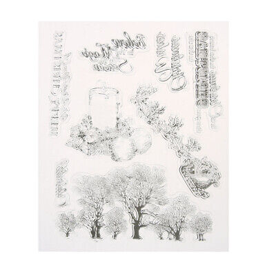Christmas trees Transparent Clear Stamp DIY Silicone Seals Scrapbooking Card
