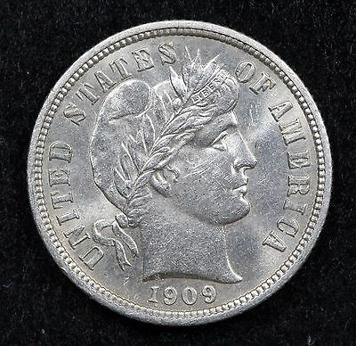 1909 Ms Bu Uncirculated Barber Dime