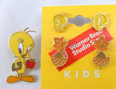 wb Tweety '97 & Kids Earrings Collection Warner Brothers Looney Tunes NEW Toons
