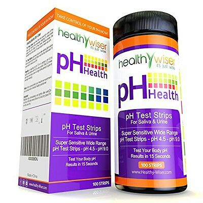 HealthyWiser pH Test Strips for Urine and Saliva | 100 Strips
