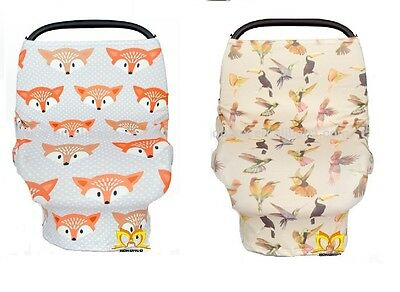 Stretchy Car Seat Cover Canopy Unisex Multi Use Animal Printed-Ships Fast-USA