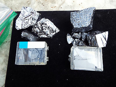 190 Grams of Metallic Polycrystalline Silicon + 10 Grams of Wafer pieces