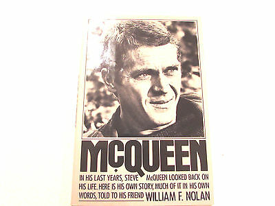 McQueen, by William Nolan - 1984 - 1st Edition Vintage Hardcover Book