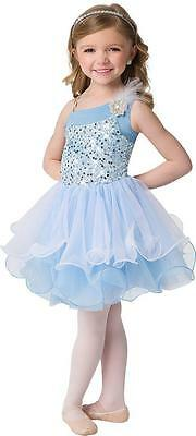 Dance Costume Small Child Sky Blue Sequin Tutu Ballet Lyrical Solo Competition