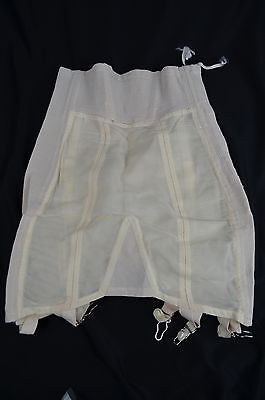 Vintage 1950s CORSETRY USA Open Bottom Girdle with Garters & Side Zipper