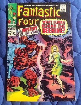 THE FANTASTIC FOUR #66 (Marvel 1967)  Origin of Warlock