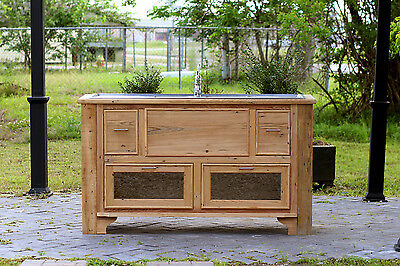 Reclaimed Wood Island Stainless Farm Sink Drainboard Sink Apothecary Chest Pckge