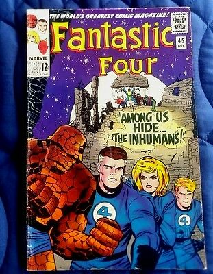 FANTASTIC FOUR #45 1st appearance of Inhumans FN