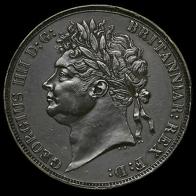 1821 George IV Milled Silver Secundo Crown, G/EF