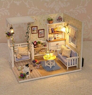 Doll House DIY Room With Furniture 1:24 scale