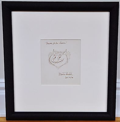 "Maurice Sendak ~ Framed Stunning Early Original ""wild Thing"" Drawing, Signed"