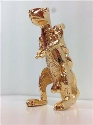 Gold Squirrel Figurine Nuts Protector Card Guard Poker Metal NEW