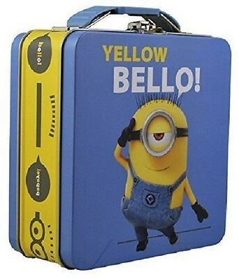 "1 Despicable Me Minions Yellow Bello Lunch Box With Buckle 5 3/4"" # 63316"
