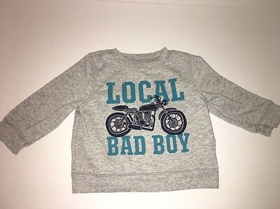 Old Navy Sweatshirt Baby Boy Motorcycle Size 6 To 12 Months