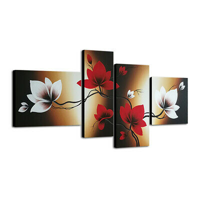 Original Hand Painted Canvas Oil Painting Home Decor Wall Art Flowers Framed