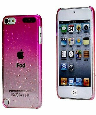 iKase iPod Touch 5th Generation Pink Clear Water Drops Girly Case Snap Cover+2