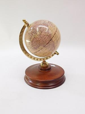 Brass And Wood Mounted Desk Globe Lot 9
