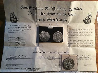 Atocha Silver Shipwreck Coin Pre-Motherload Early Low Numbered Tag and COA