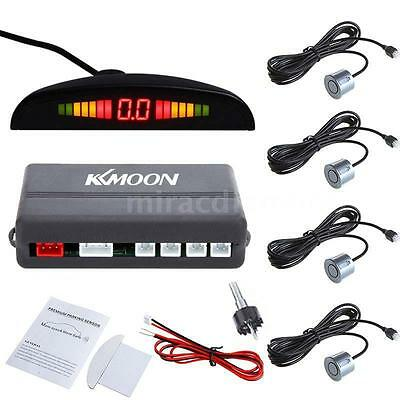 KKmoon Car LED Universal Rear Car Parking Reversing System +4 Sensor Grey E1E9