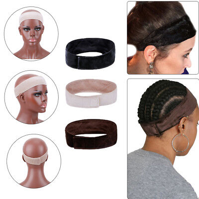 2PC Comfortable Velvet Adjustable Wig Grip Scarf Head Hair Band Faster Headbands