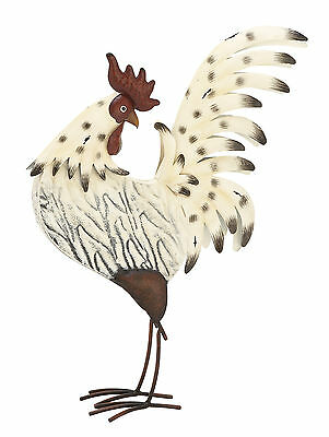 """GwG Outlet Metal Rooster Statue 15""""W, 21""""H 85443"""