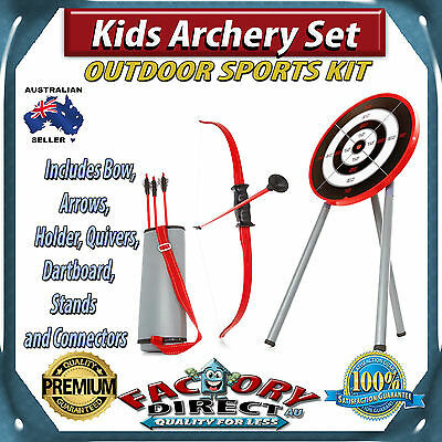 NEW! Kids Archery Set Bow Arrows Holder Quivers Dartboard Stands and Connectors!