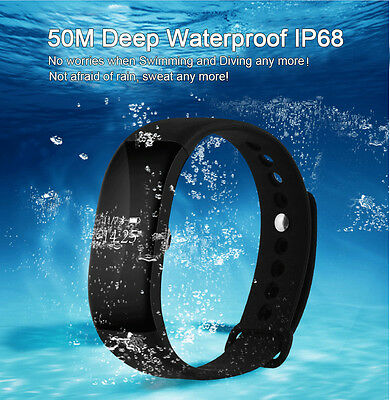 IP68  Waterproof V66 Smart Watch Heart Rate Monitor Pedometer Fitness BraceletUK