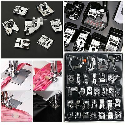 32/42pcs/Set Domestic Sewing Machine Presser Foot Feet for Brother Janome Singer