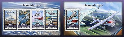 Z08 TG16601ab TOGO 2016 Airliners MNH Mint Set