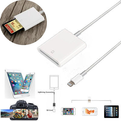 2 in 1 OTG SD Card Camera Reader Adapter for Apple iPad Air Mini iPhone 6 7 Plus