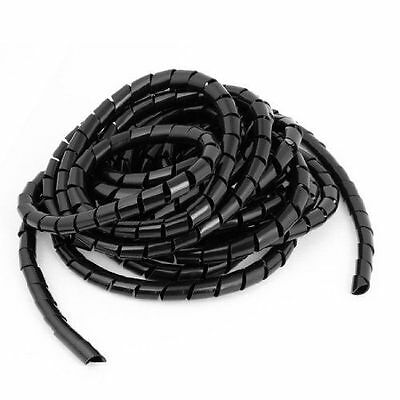 6.5M Flexible Black PE Spiral Cable Wire Wrap Tube 12mm Polyethylene Brand New