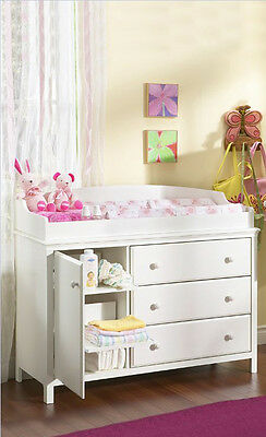 Changing Table Dresser Furniture for Nursery Baby Infant Drawers and Shelves