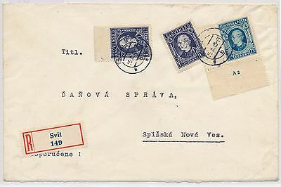2557) SLOVAKIA, MI. 41 x PLATE NUMBER, MIXED FRANKING ON R-COVER SVIT