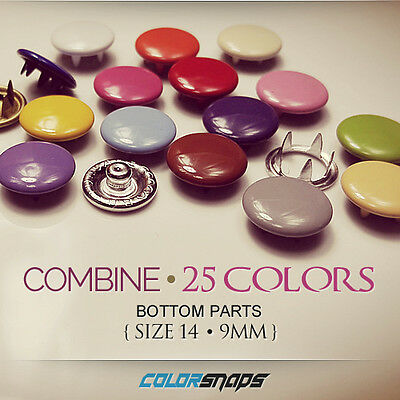 MEDIUM | Assorted Colour Capped Snap Press Button Fastener Popper Fabric Clothes
