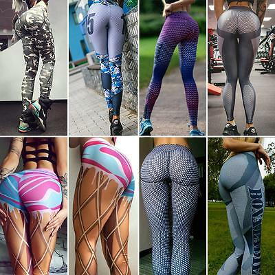 Mujeres Running Yoga Malla Gimnasio Leggings Fitness Athletic pantalones