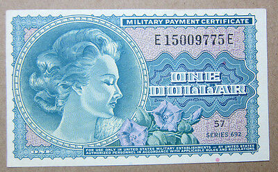 Series 692 $1 One Dollar Mpc Military Payment Certificate Xf / Au