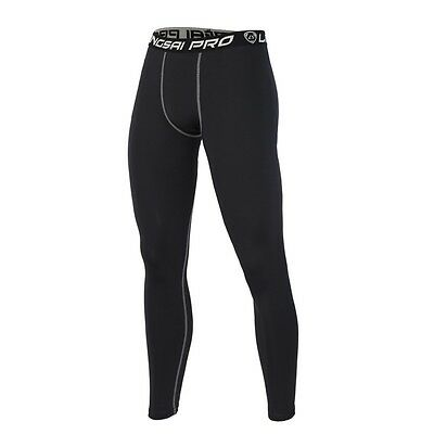 Men Compression Pant Mens High Elastic Fitness Tights Running Cycle Gym Leggings